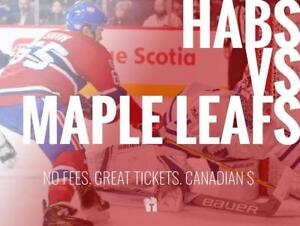 TIKTIKS | Habs vs Maple Leafs Sept 26 @ Bell Centre | Cheaper than Ticketmaster. CAD$. No Fees. Canadian Company!