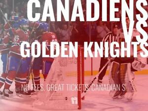 TIKTIKS | Canadiens vs Golden Knights Nov 10 @ Bell Centre | Cheaper than Ticketmaster. CAD$. No Fees. Canadian Company!