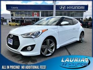 2013 Hyundai Veloster Turbo Auto - Leather / Navigation