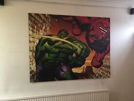 The Red Hulk print