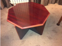 Mahogany coffee table, octagonal