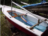 Pacer sailing dinghy.