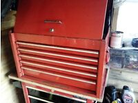 Snap on top box with tools