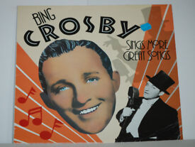 Bing Crosby Sings More Great Songs Album. Record in excellent condition.