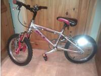 "Raleigh Zero G 16"" boys bike aluminium frame"