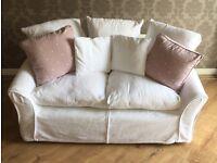 Laura Ashley Small White Sofa