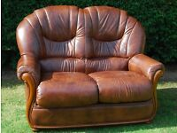 NEW LEATHER TWO SEATER SOFA