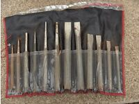12 Piece Heavy Duty Chisel and Punch Set.