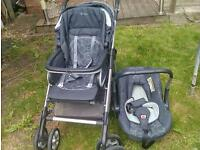 Pram or Push chair :Silver Cross pushchair-travel system , pram Excellent Condtion : £125