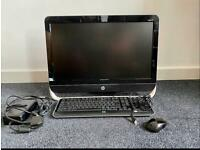 Hp Pavilion 23 all in one PC + PC desk and leather chair