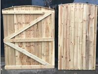 Wooden gate side gate bow top gate front gate