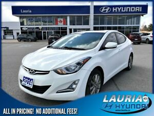 2014 Hyundai Elantra GLS Auto - Sunroof / Backup camera