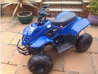 110cc semi auto quad with reverse really fast and nice bike