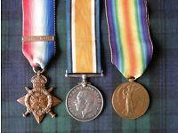 World War One medals Gordon Highlanders Killed in Action