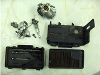 Yamaha YLM346 SR carb carburettor linkage plate and air filter housing