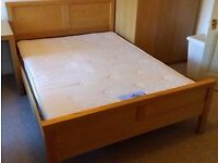 Double bed - Ash frame + mattress