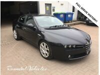 2007 Alfa Romeo 159 Lusso 1.9 cdti Black 4 door, FSH, inc t/belt ,w/pump, Teledial Alloys LOVELY !!