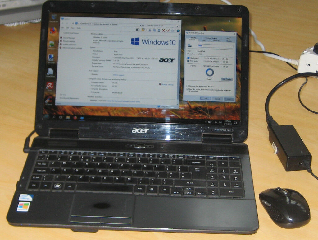 Acer Aspire 5332 laptop - 3GB RAM, 150GB disk | in Headington, Oxfordshire  | Gumtree