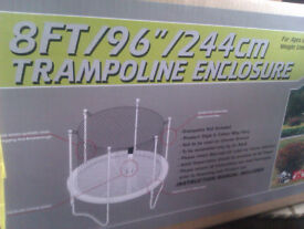 8ft Trampoline Enclosure with Poles (Brand New)