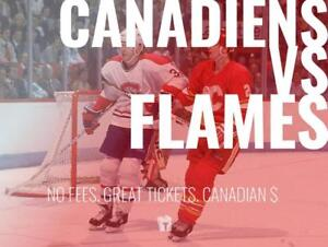 TIKTIKS | Canadiens vs Flames Oct 23 @ Bell Centre | Cheaper than Ticketmaster. CAD$. No Fees. Canadian Company!