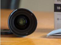 Sigma 18-35 1.8 ART Nikon fit lens