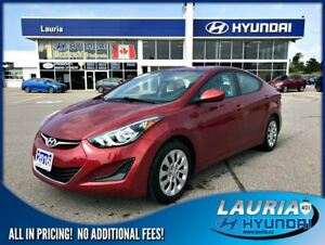 2016 Hyundai Elantra GL Auto - Low kms - Bluetooth / Heated seat