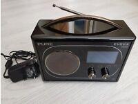 PURE Evoke Flow DAB Internet FM Radio Black - Screen Faulty