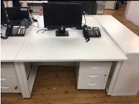 4 x White 3 drawer pedestal/under desk drawers £50 each