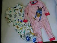 Joules 2 x sleepsuits 6-9 months
