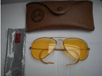 Limited Edition Ambermatic RAY BAN 'HUNTER' Aviator Sunglasses