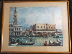 "Framed print of ""Venezia, Palazzo Ducale"" by Canaletto."