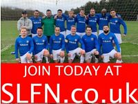 11 A SIDE FOOTBALL TEAM LOOKING FOR PLAYERS. PLAY FOOTBALL IN LONDON. 8KN