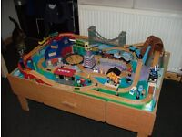 Large Play Train Table 125cm x 85cm. All Complete
