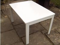 Children's play/craft/dining table, painted white, good condition.