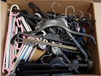 Assorted Coat / Clothes Hangers - Good Mix - x 100
