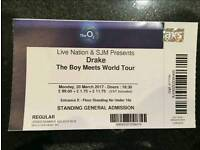 Drake - 20 March 2017 - The O2 London - General Admission / Standing