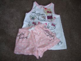 HELLO KITTY SHORTS & TOP SET 5- 6 YEARS