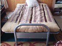 Sofa Bed, Metal frame, Excellent condition inc. High Quality mattress