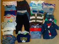 Baby boy clothes bundle 30 items, age 9-12 months (some new with tags)