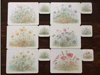 Clover Leaf Placemats (set of 12) and Coasters (set of 12) - 6 designs/2 of each