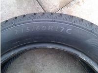 215/60/17 van tyre