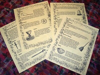 Book of Shadows Spell Pages ** Wiccan Ritual Tools and Supplies ** Wicca Witchcr (Spell Supplies)