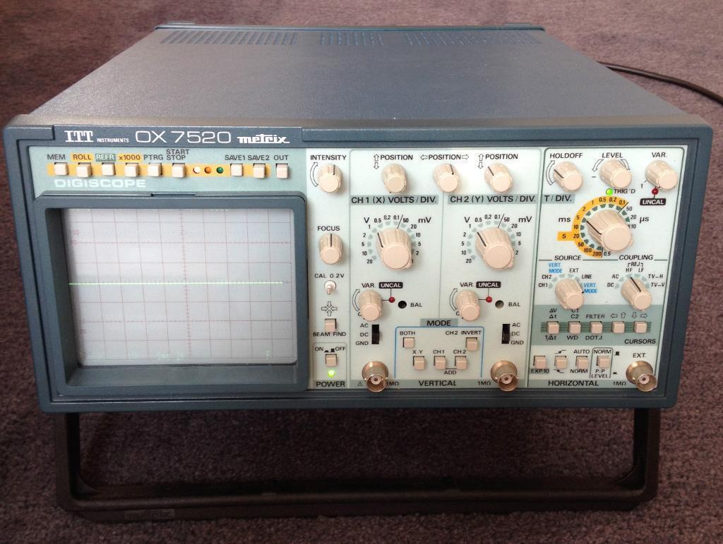 Oscilloscope Itt Instruments Metrix Ox 7520 Digital Storage Control Pannel