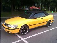 Saab 93 Convertible 2.0 yellow, quick sale bargain