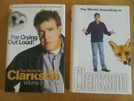 """Jeremy Clarkson books """"For crying out loud"""" & """"The World According to Clarkson"""""""