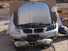 BMW E90 E91 front end, bonnet, bumper, headlights radpack 3 series