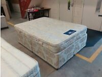 Double bed with Silent Night mattress