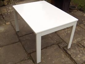 Children's Play/Craft/Dining Table- Stable, white painted, good condition