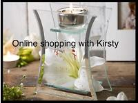 Glass lily tea light holdrr