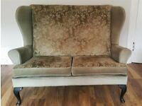 2x 2 seater Winged Back Sofas Retro/Vintage